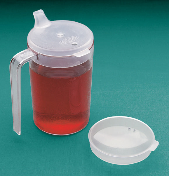 Clear Cup With Two Lids, 10 oz
