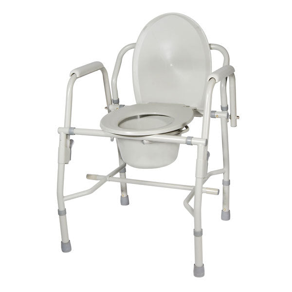 Steel Drop Arm Bedside Commode with Padded Arms  11125kd-1