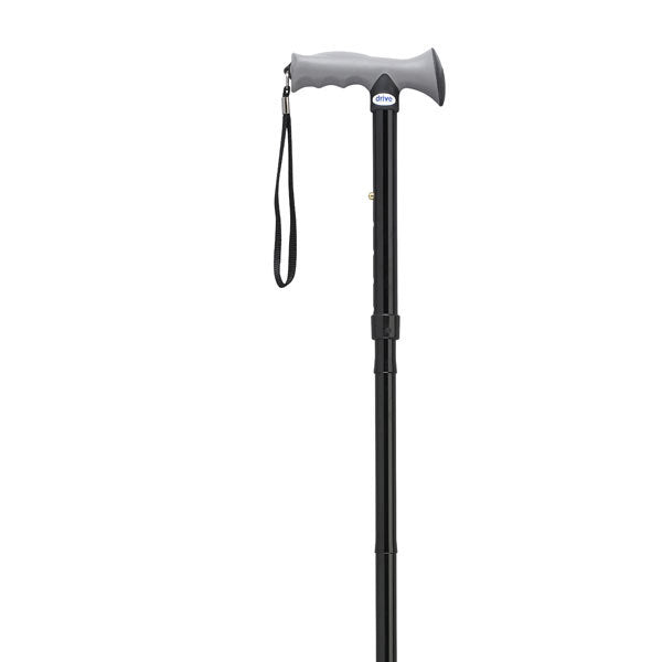 Adjustable Lightweight Folding Cane with Gel Hand Grip  rtl10370bk