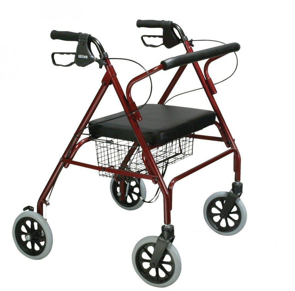 Heavy Duty Bariatric Rollator Walker with Large Padded Seat  10215rd-1