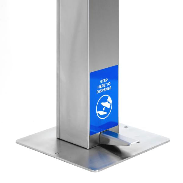 Germs Be Gone Freestanding Touchless Sanitizer Dispenser - Square