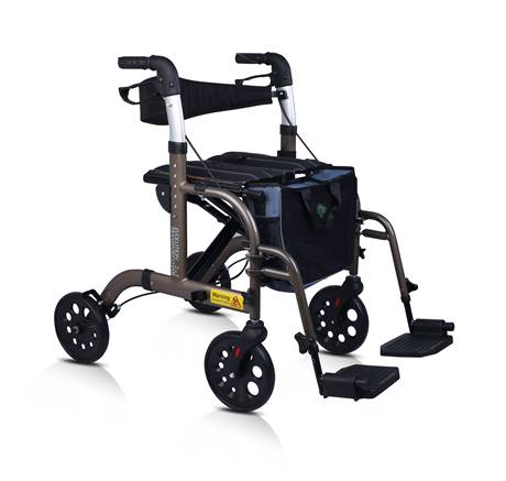 Evolution 2 in 1 Transport Chair/Rollator Combo