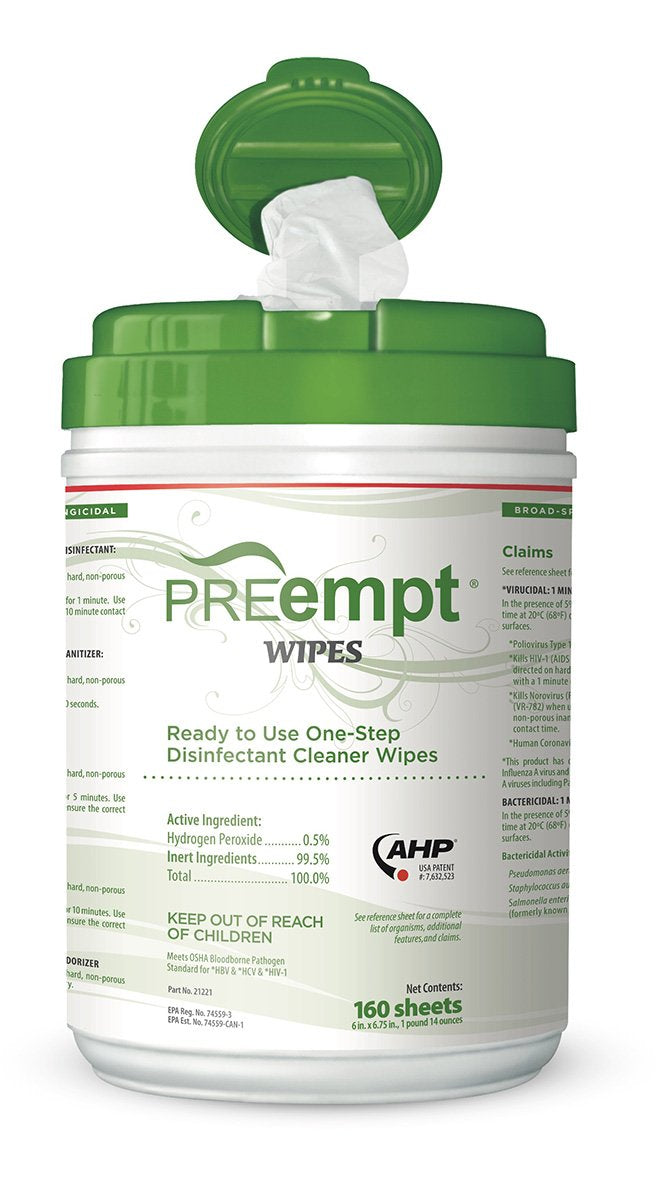 PREempt RTU Disinfectant Wipes 160/Can