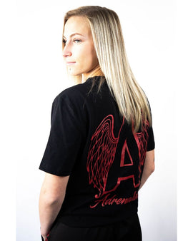 Adrenaline Original Series Red Print Black T-Shirt