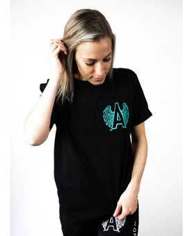 Adrenaline Original Series Mint Print Black T-Shirt