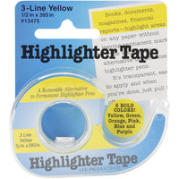"Highlighter Tape .5""X393"""