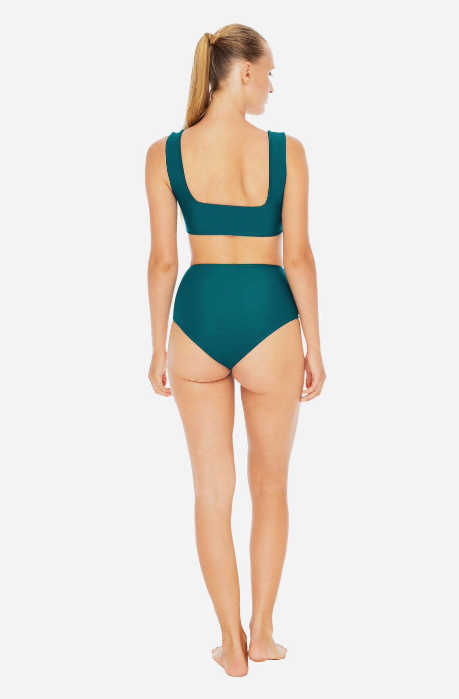 Lucky High Waisted Bottom Bottle Green
