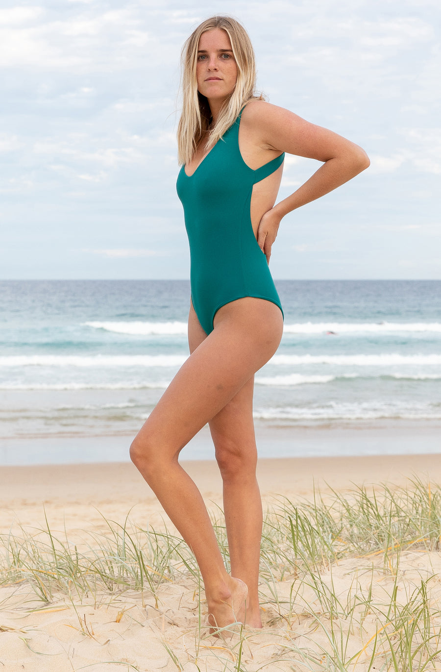 Elena One Piece Pine Green