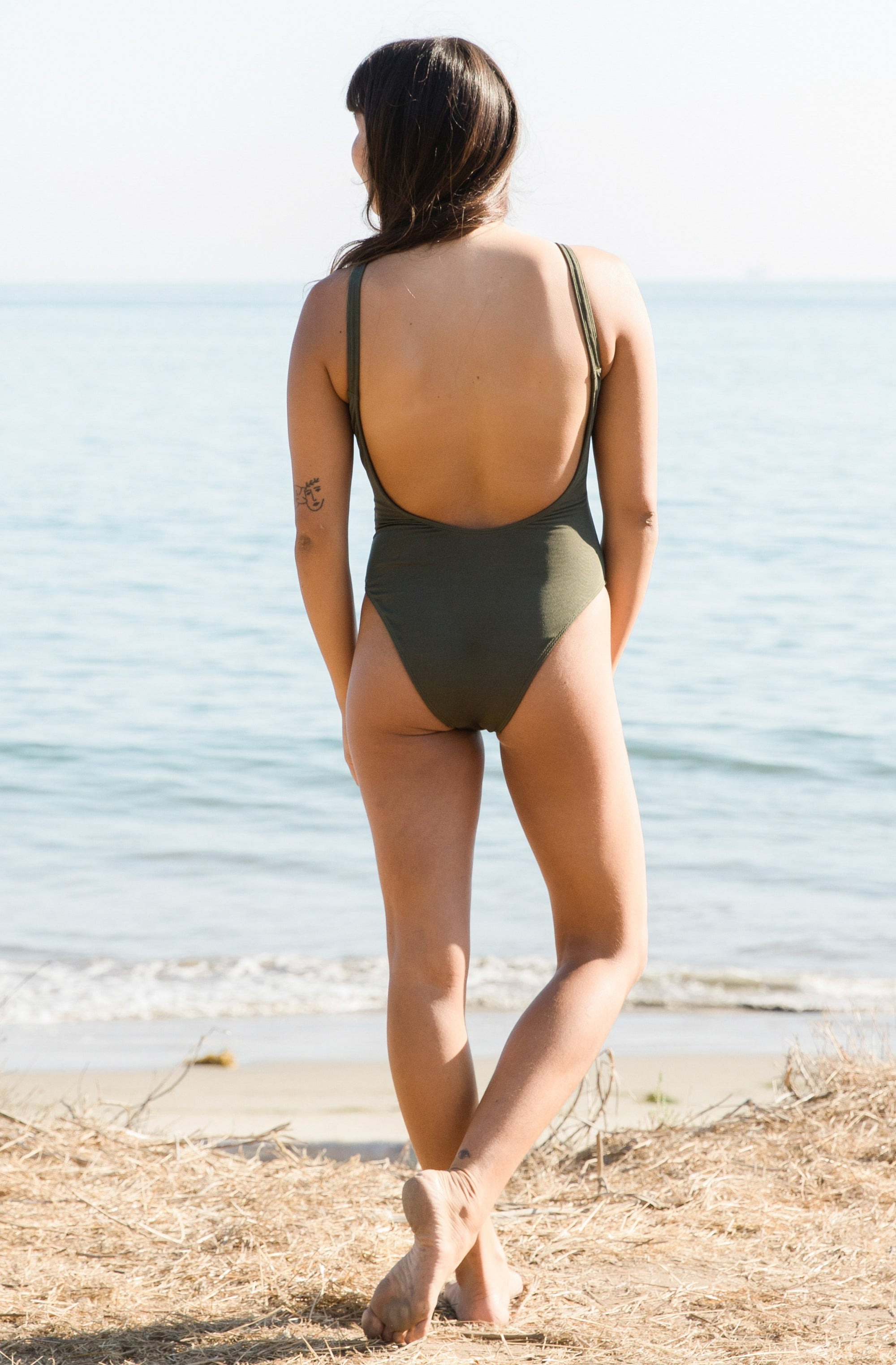 Lola One Piece Olive Eco Rib