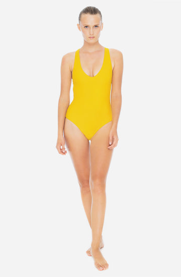 Elena One Piece Saffron Yellow