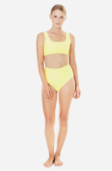 Lucky High Waisted Bottom Sunflower Yellow