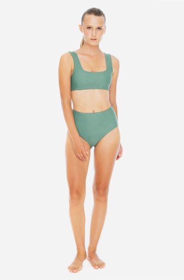 Kassia Reversible Bottom Army Green/Lake Blue