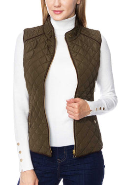 Quilted Zip UP Vest
