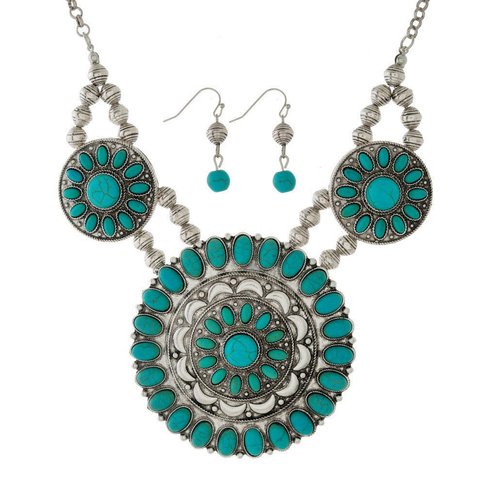 Turquoise Necklace Set - Samsara