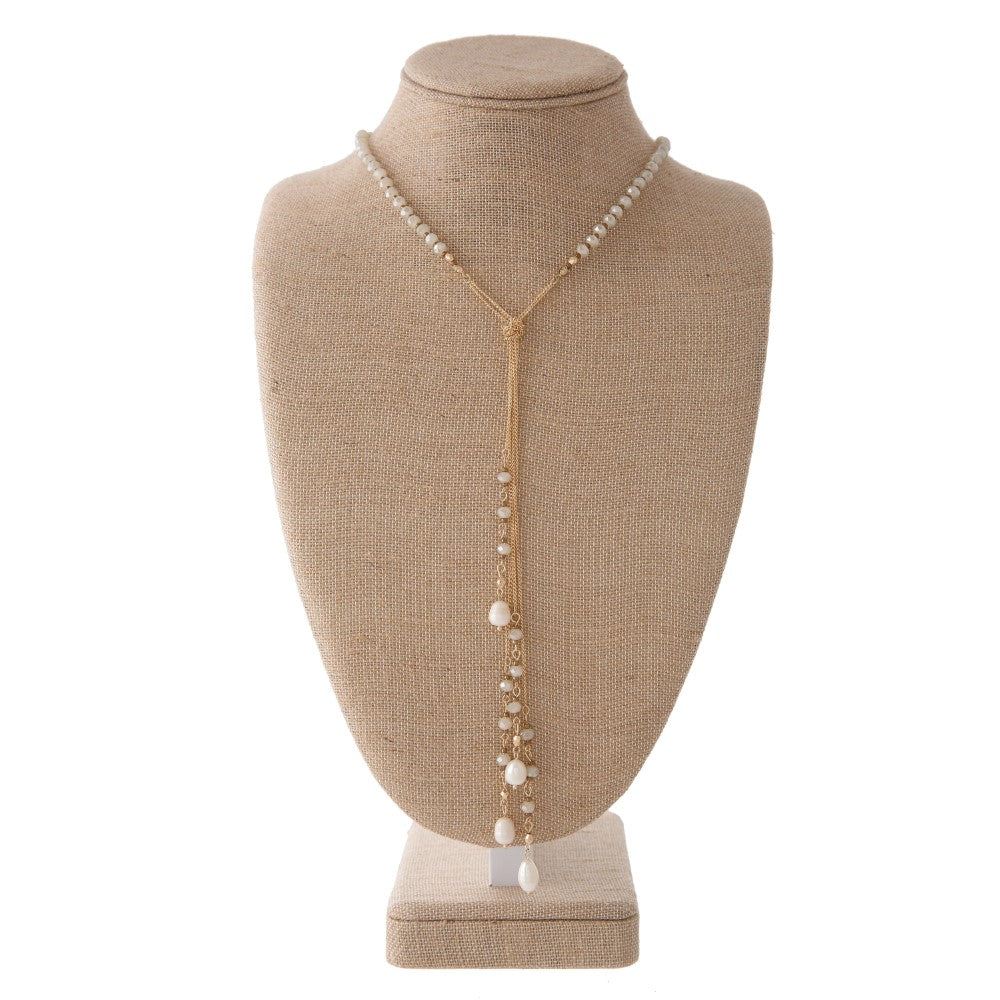 Gold Y necklace - Samsara