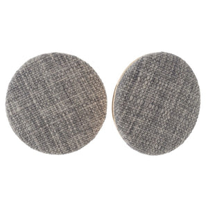 Linen Button Earrings - Samsara