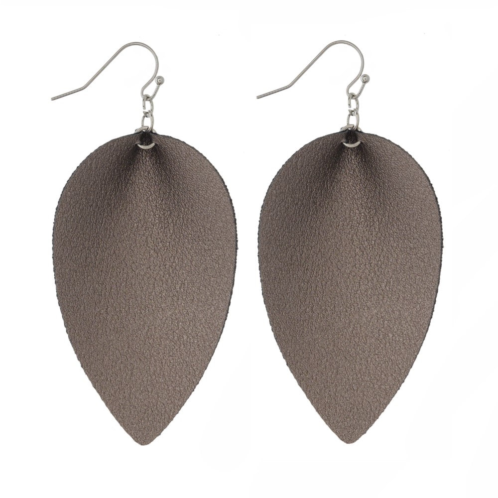 Hermatite Faux Leather Earrings - Samsara