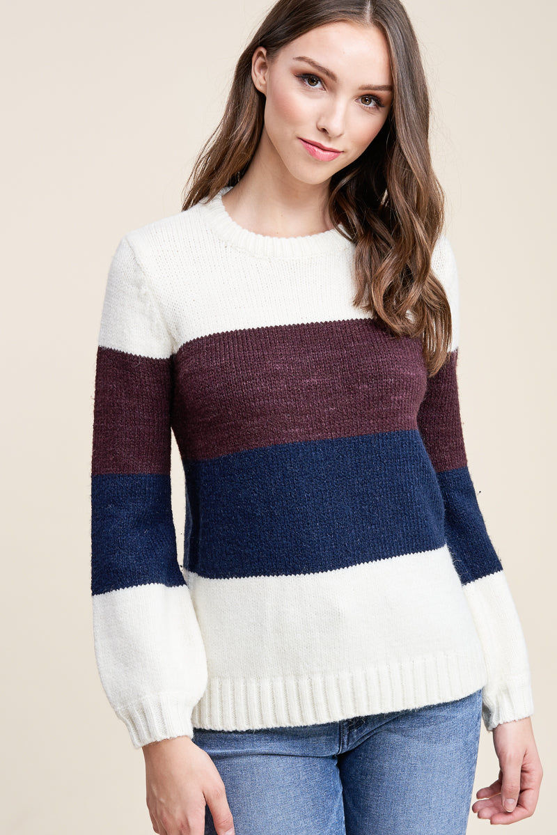 Caris Color Block Sweater