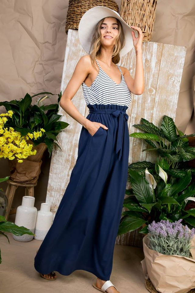 Addie Maxi Dress -Navy