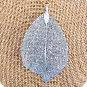 Blue Leaf Necklace