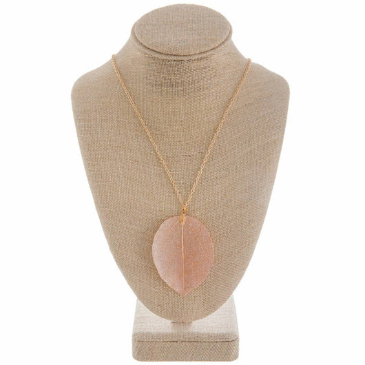 Orange Leaf Necklace