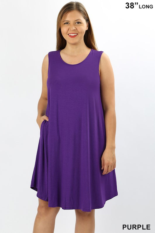 Swing Tank Dress- Plus - Samsara