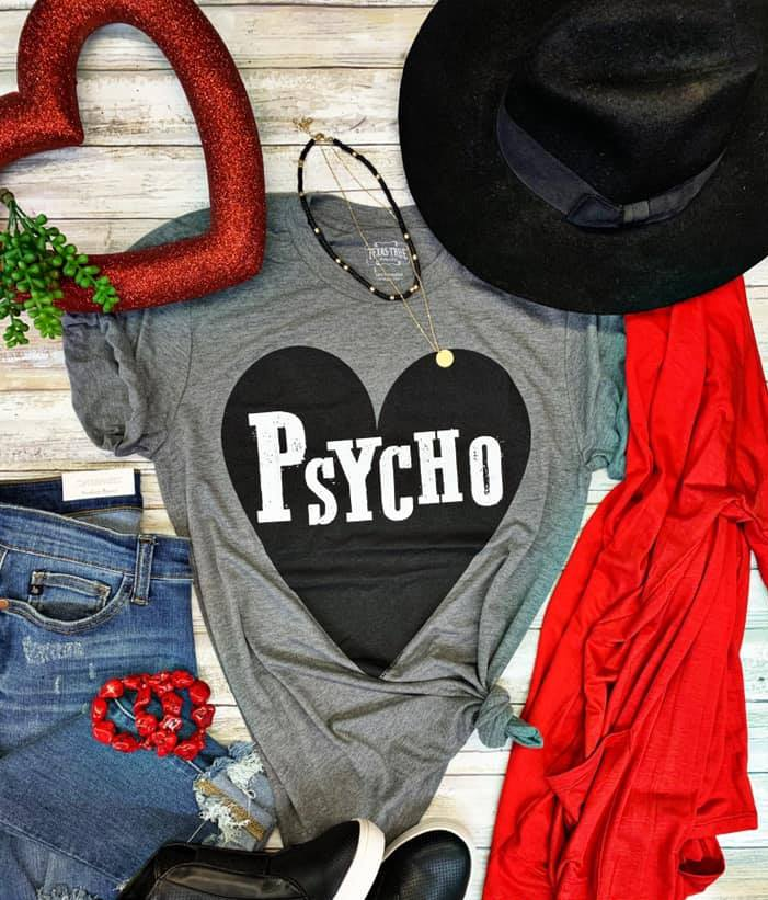 Psycho Graphic T- Gray