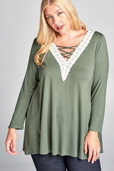 Abby V Neck top - Samsara