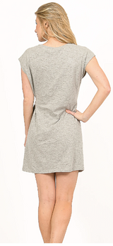 Side Tie Tunic Dress