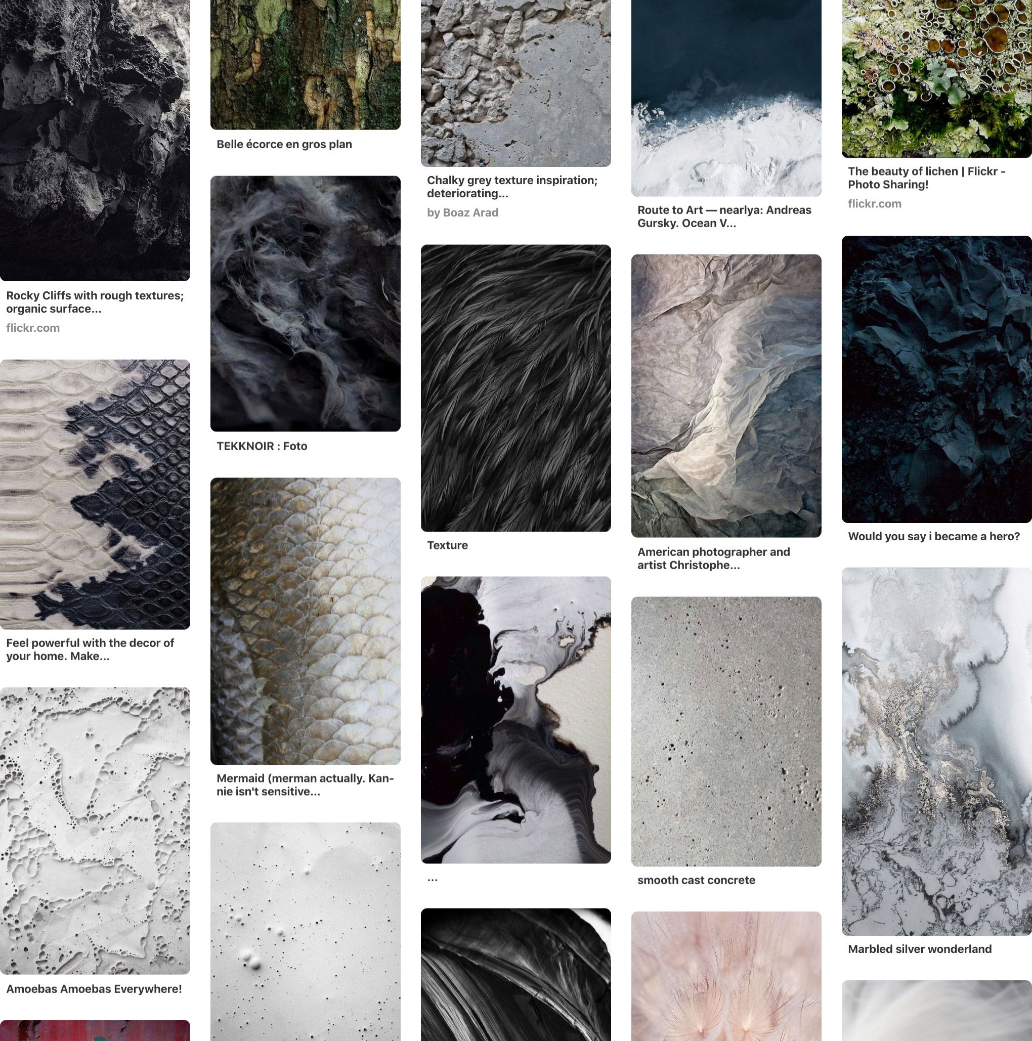 Photo Surfaces, Inspiration, Pinterest, Textures