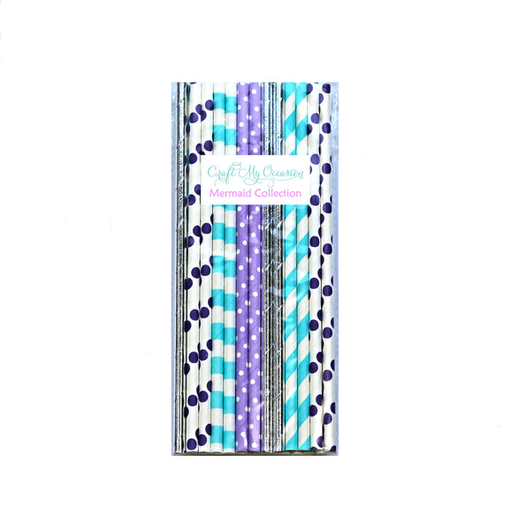 Mermaid Paper Straws