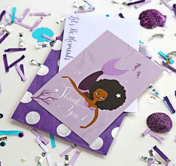 Mermaid Party Thank You Cards