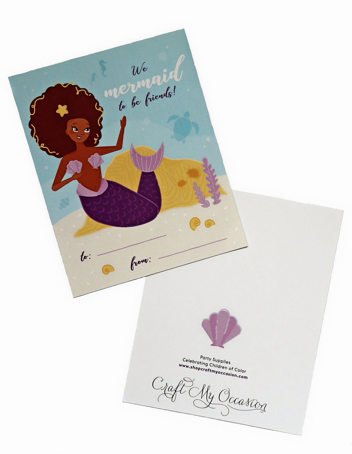 Mermaid Valentine's Day Exchange Cards