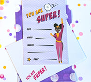 Supergirl Party Invitations