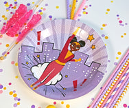 Supergirl Party Plates