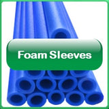 Trampoline Foam safety sleeves in blue
