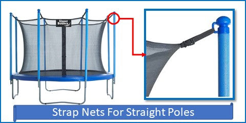 Strap Net And Pad Kits For Straight Pole Systems
