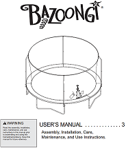 BZ1509E4 User Manual - Trampoline
