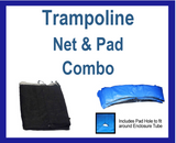Pad And Net Combo For 12 Ft. Round Frames With 4 Poles Or 2 Arches - Just Trampolines