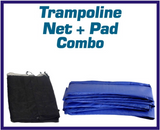 Net And Pad Combo For 15 Ft. Round Frames With 6 Poles Or 3 Arches - Just Trampolines