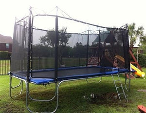 Texas Star 17 x 10 Rectangular Trampoline with Enclosure