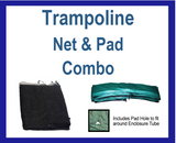 Net And Pad Combo For 15 Ft. Round Frames With 8 Poles Or 4 Arches - Just Trampolines