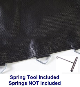 "12' ft Jumping Surface with 60 V-rings for 5.5"" inch Springs - Free Spring Tool - Trampoline"