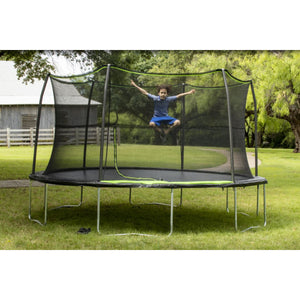 JumpKing 14 ft. Trampoline with 6-Pole Enclosure