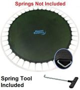 "Jumping Mat Fits 15 Ft. Round Frames-100 V-Rings-7"" Springs - Just Trampolines"