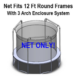 Net Fits 12 Ft. Round Frames With 3 Arch Enclosure System-UBNET-12-3AP