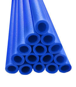44 In Pole Foam Sleeves-1.5 Dia Pole-Set Of 12-Blue