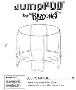 BZJP1506 User Manual - Trampoline
