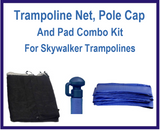 Net And Pad Combo Kit For 14Ft 8 pole Skywalker Trampoline-UBSW-14-8-IS-B