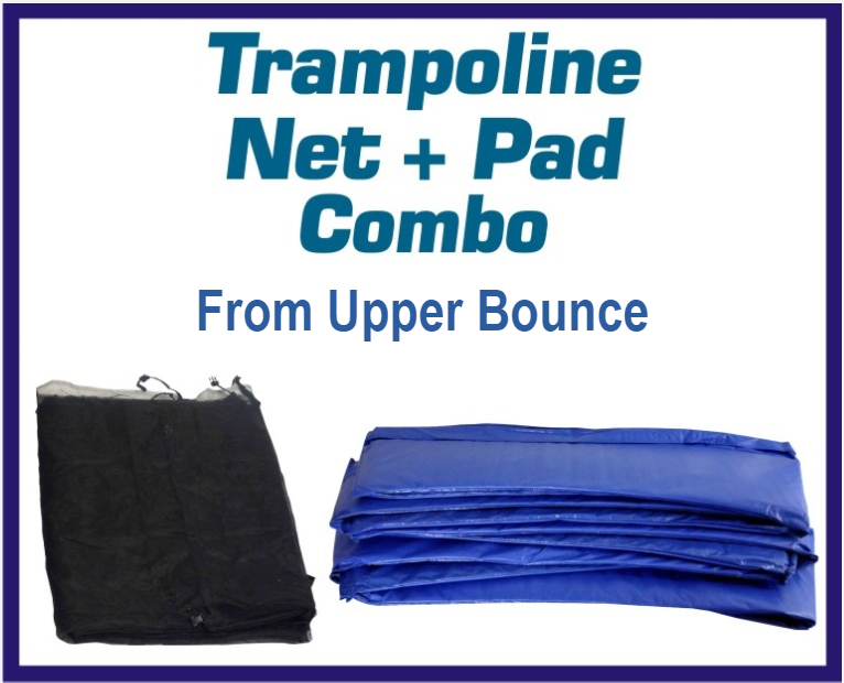Net And Pad Combo For 15 Ft. Round Frames With 8 Poles Or 4 Arches